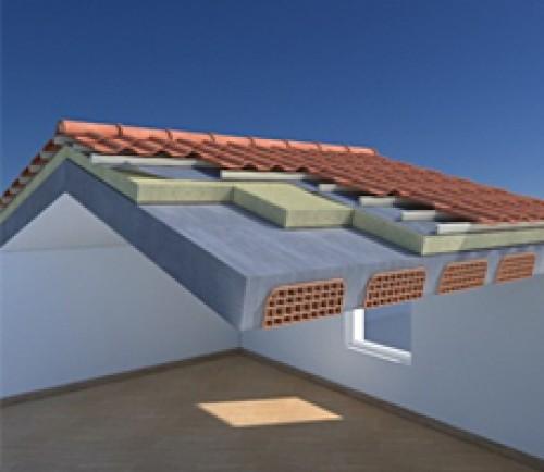 Tenere al caldo in casa copertura laterocemento ventilata for Tettoia inclinata del tetto